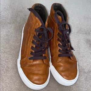Old Navy Boys - size 2 brown leather hightops